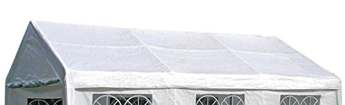 DEGAMO Ersatzdach Dachplane für Profi Partyzelt 4x6 Meter, PVC Weiss 480g/m², incl. Spanngummis