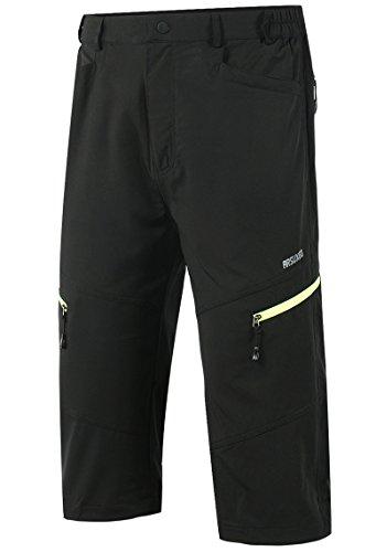 Lovache Herren Radhose 3/4 MTB Radsport Shorts Atmungsaktive Wasserdicht Outdoor Fahrradshorts mit Reißverschluss - 2
