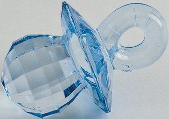 Club Green Acryl Schnuller, blau, 4,5cm, 6pro Pack