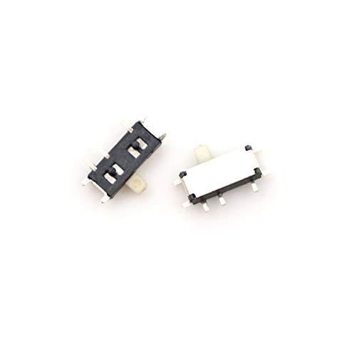 Interruptores de palanca 20PCS 7 Pin Mini interruptor deslizante de encendido y apagado 2 Posicione Micro Slide Toggle Switch interruptor deslizante horizontal miniatura SMD Componente electrónico