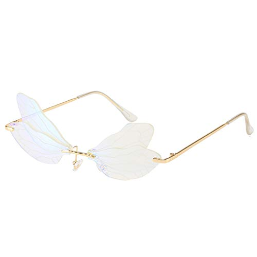 ZHAWAXI Libellen-Sonnenbrille für Frauen Farbverlaufsbrille Polarisierter UV400-Schutz Fahrspiel Selfie Travelling Lightweight