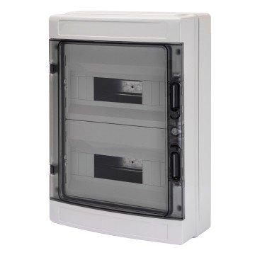 Gewiss Centralino stagno con pareti lisce predisposto per alloggiamento morsettiere IP65 GW40104 (24 Moduli)
