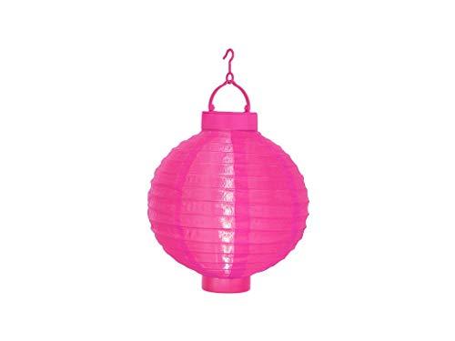 Best Season Solarlampion, 1 Cool Light LED mit Solarpanel inclusive Akku Outdoor, Vierfarb-Karton circa 30 x 20 cm, pink 479-17