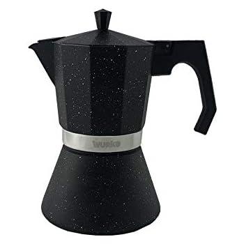 Wurko - Cafetera Aluminio Inducción Amaretto 3 Tazas: Amazon.es: Hogar