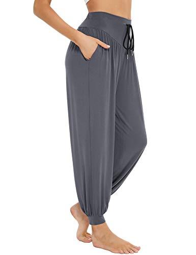 Sykooria Haremshose Damen Yogahose Super Weiche Modale Baumwolle Pumphose Pilates Hosen