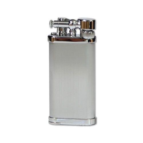 Feuerzeug IM Corona Old Boy für Pfeifen aus Chrom satiniert in silber matt glänzend