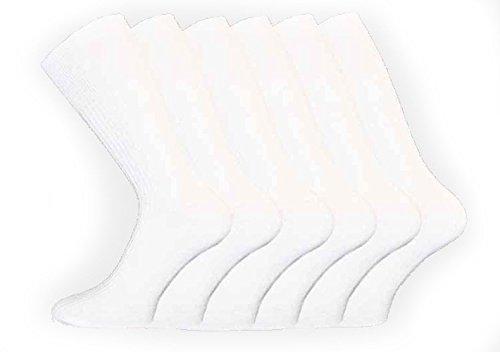 Socks Uwear Lot de 12 paires de chaussettes mi-hautes 100 % coton Non élastique Homme