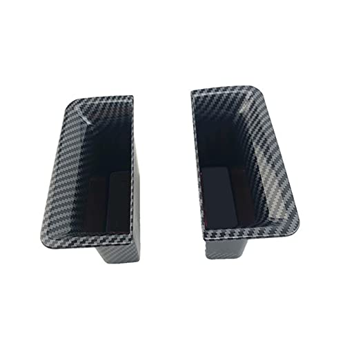 SHENG ABS Box Black Puerta De Fibra De Carbono Negro Ajuste para Ford Escape Kuga 2020 Manija Kit