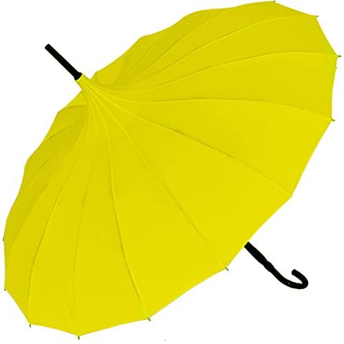 Regenschirm Sonnenschirm Pagode UV-Protection Cecile gelb