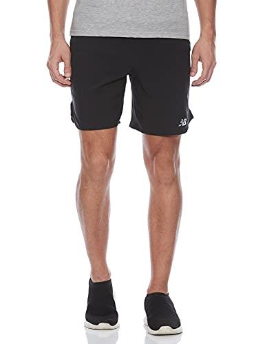 New Balance Impact Run 7 Inch Shorts, Negro, S Mens