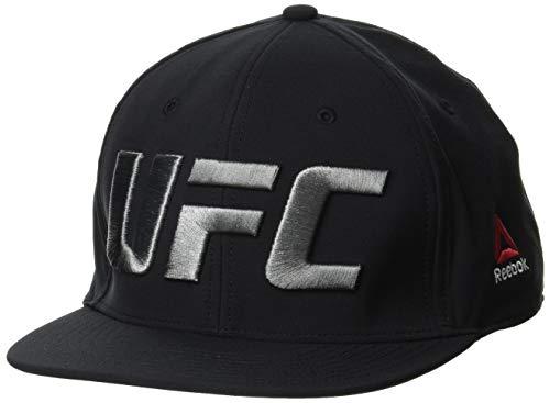 Reebok UFC Flat Peak Cap (Fn) Gorra, Hombre, Negro, Talla Única