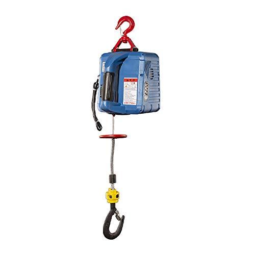 TTLIFE Grue de traction portative télécommandée 60 m mode de commande à distance Palan électrique à câble 3 en 1 charge maximale 500 kg longueur de câble métallique 7,6 m vitesse 5 m/s 1500 W