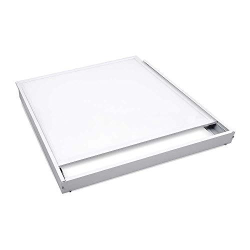 600x600mm -LED Panels- 40w, 3000k,4000k,6000k - Deckenleuchte-Bürobeleuchtung - nicht dimmbar, mit Aufbaurahmen/Kit/Rahmen - Weißer Rahmen - IP40 (Kaltweiß/4000k)