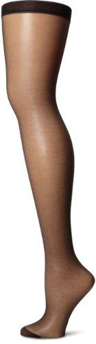 Pretty Polly Damen Nylons 10d Gloss Stockings Strumpfhose, 10 DEN, Schwarz (Black Black), Medium (Herstellergröße: ML) (3er Pack)