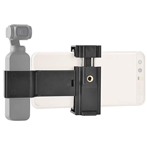 HechoVinen Soporte para teléfono, adaptador de montaje de trípode de 1/4 tornillo agujero teléfono móvil clip de abrazadera ajustable + soporte de cámara de acción para DJI OSMO Pocket Camera
