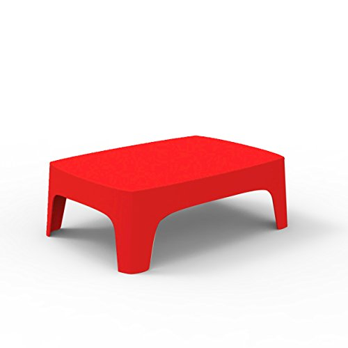 Vondom Solid – Table Basse, 71 x 102 x 35 cm, Couleur Rouge
