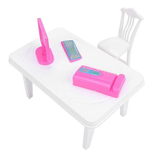 ZSM Miniaturpuppenhauszubehör Dekoration Zubehör Puppenhaus Tisch und Stühle für Kinder YMIK