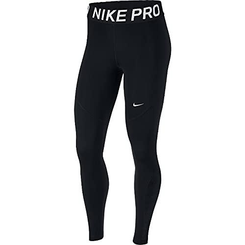 Nike PRO, Leggings Sportivi Donna, Nero (Black/White 010), 52 (Taglia Produttore: X-Large)
