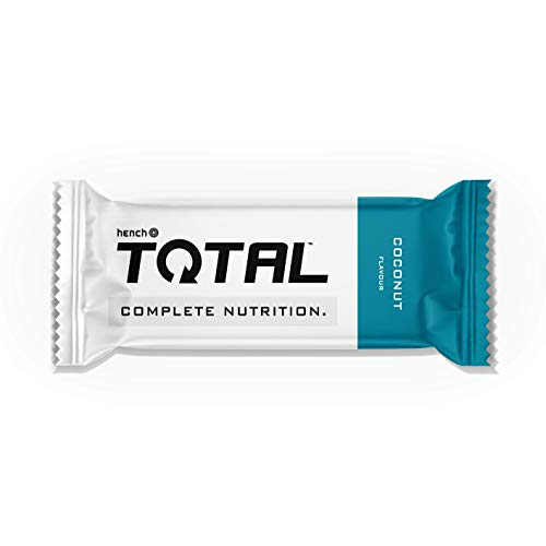 Hench Total Bar - Complete Meal - 400 Calories - Balanced Source of Protein, Carbs & Fat - 28 Vitamins & Minerals - 100% Vegan (Coconut, 4 x 90g)