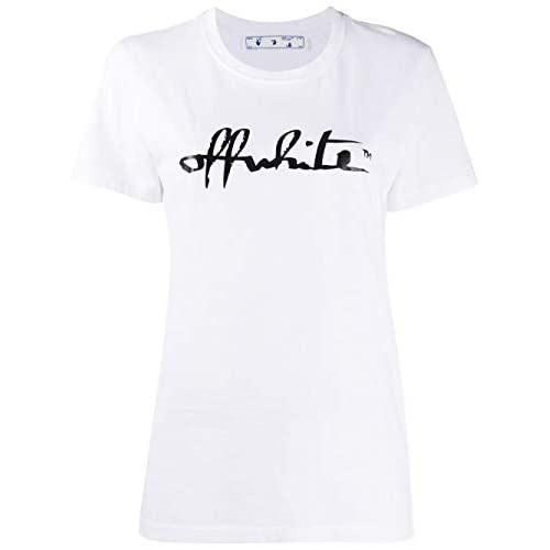 OFF-WHITE Luxury Fashion Donna OWAA049E20JER0070110 Bianco Cotone T-Shirt | Autunno-Inverno 20