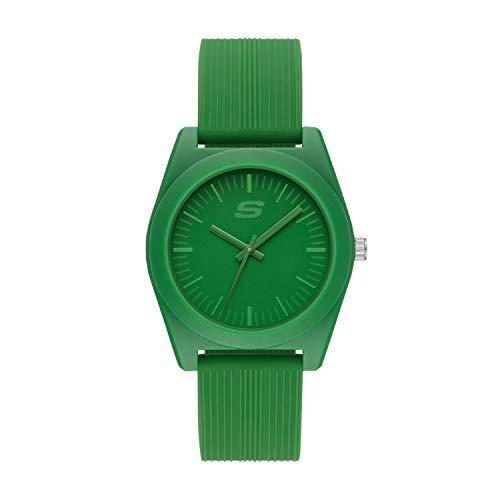 Skechers Women's Ocean Gate Quartz Watch with Silicone Strap, Green, 20 (Model: SR6179)