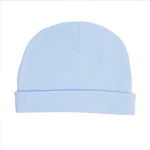 Soft Touch - Cappello da bambino, colore: Blu / Bianco 0-3 M