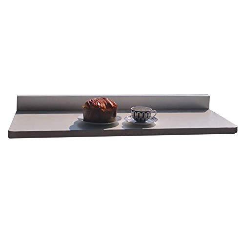 Einfach und Praktisch Einfacher Wandmontierter Tisch Einfacher Laptopständer Multifunktionaler Einfacher Klappschreibtisch Balkongeländer Hängende Tische, Metallmaterial, 2 Farben, 2 Größen, Beige, 7