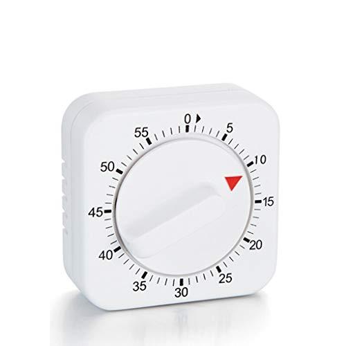 Minuterie Family Restaurant Temps en Acier Inoxydable Gestion Rappel Countdown Cuisine Cuisson Timing Portable (Color : White)