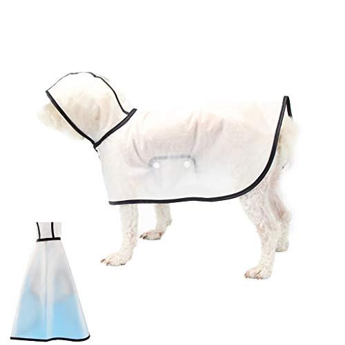 LEA Zoonpark Huisdier Hond Regenjas, Poncho, Hond Puppy Pet Lichtgewicht Waterdichte Teddy Transparante Plastic Poncho Regenjas Voor Kleine Of Medium Honden Transparante Kleur (multi-size Code), L, Helder