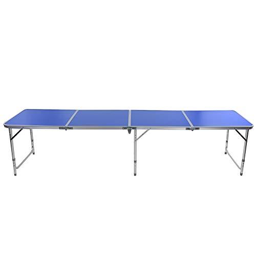 Cocoarm Beer Pong Tisch, 3-Fuß-Design Indoor Outdoor tragbare faltbare Beer Pong Camping Tisch blau