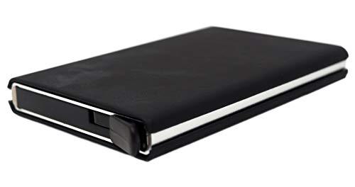 Tarjetero Billetero | Capacidad para 4-6 para Tarjetas | Estructura Metálica | Antideslizante|Bloqueo RFID | Delgado | Unisex (Color 1)
