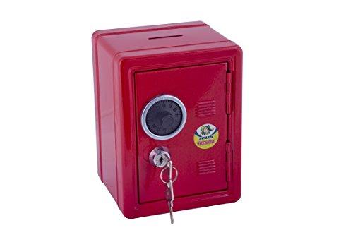 Jolly 9920–0001–Hucha, diseño caja fuerte en rojo
