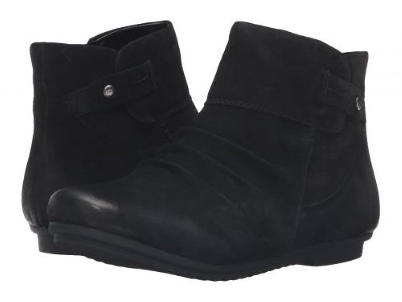 暴力年金受給者異なるEarth(アース) レディース 女性用 シューズ 靴 ブーツ アンクルブーツ ショート Bliss - Black Soft Buck [並行輸入品]