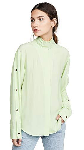 Cedric Charlier Women's Button Down Shirt, Green, 46