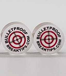 Bulletproof Break Tips, Finally, a Break/Jump tip That is Clearly Superior to All The Other Options on The Market! More Powerful Than Phenolic! Jump with Spin and Draw! (2 Pack) Free Patch & Sticker!