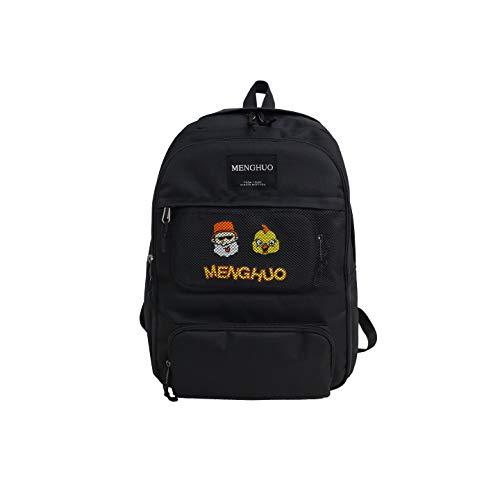 【ZESU】 韓国リュック カジュアルバッグ韓国バッグ/バッグ/バック/追加通勤通学かごバッグ大容量 超 (ブラック)