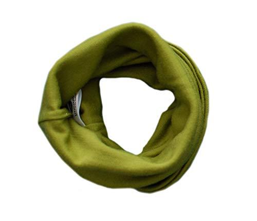 GREEN ROSE Verde Rosa 100% lana de merino bebé niños bufanda cuello calentador cuello Snood orgánico