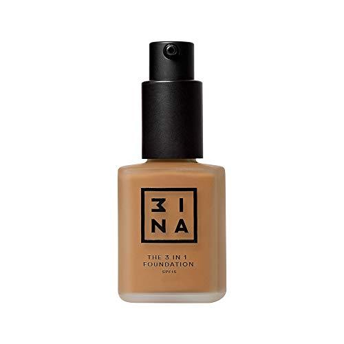 3INA   Maquillage Sans Cruauté   Vegan   Fond de Teint Fond   Couvrant Lègere à Moyenne   Texture Fluide   Longue Tenue   Fini Naturel   Résistant à l