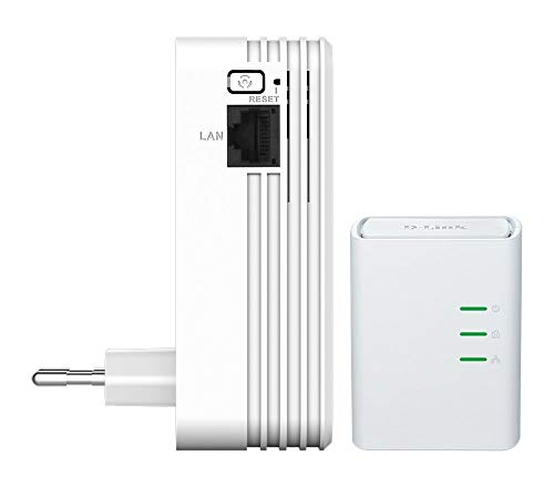D-Link DHP-W311AV Kit PowerLine AV500, Wireless N 300Mbps con 1 Porta Ethernet, Pulsante Wi-Fi, 2 Adattatori