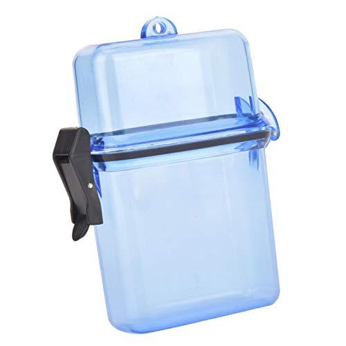 Jopwkuin Diving Seal Box Transparent, zum Surfen Kanu Kajak(Clear Blue)