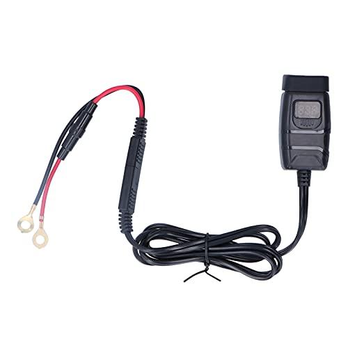 Cargador de manillar de motocicleta QC3.0, adaptador de cargador USB dual para encendedor de cigarrillos de motocicleta a prueba de agua con interruptor de encendido y apagado de voltímetro