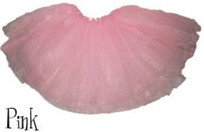 Pink - Girls Basic Ballerina Tutu Ballet Dress-up 3 Layer Tulle Skirt by Lil Princess