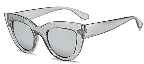 Sunglasses Vintage Cat Eye Gafas De Sol MujerMarca Gafas De Sol Lady Retro Sunglass Matt Black Cleargrayvsilver