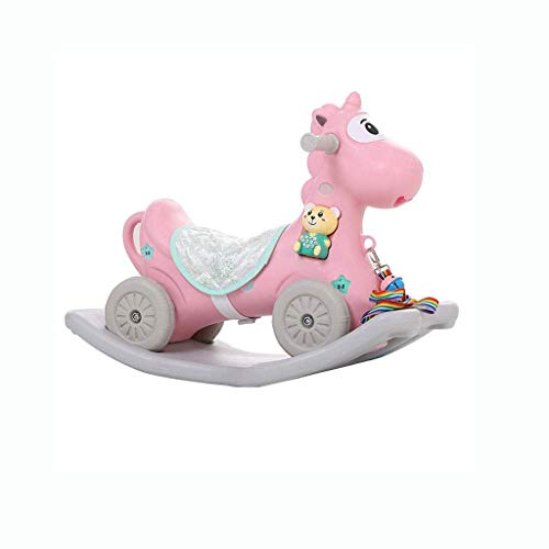 JWDYA Rocking Horse Toy, Wooden Rocking Horse Rocking Chair-rocking Horse with Music for Infants