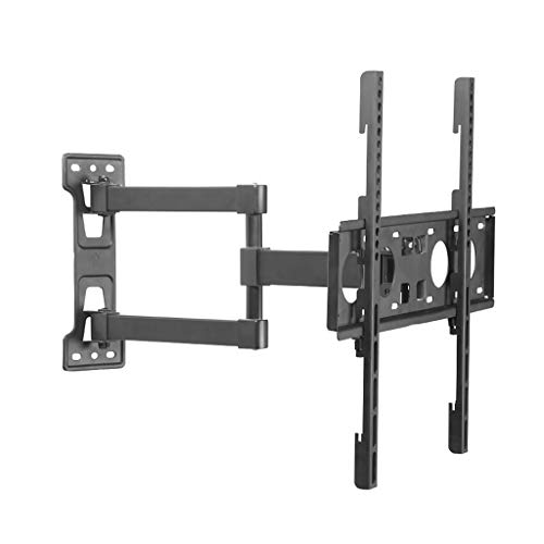 RENJUN- TV Wandhalterung Kippdrehvorrichtung mit schwenkbaren Doppelarmen Geeignet for 23-55in TV VESA 400x400mm Wandabstand 80-500mm Höhenverstellbar