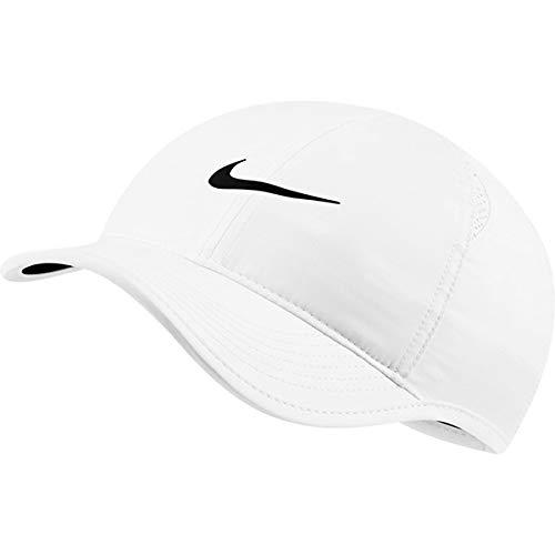 Nike Featherlight - Gorra de running para mujer, Blanco, talla única