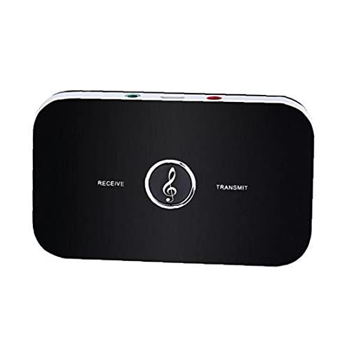 FeelMeet B6 Bluetooth TV transmisor Receptor Adaptador de Audio inalámbrico para el Auricular del Altavoz de la música Negro transmisor Receptor