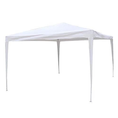 Gazebo Desmontable Blanco de Rafia plástica de 300x400 cm - LOLAhome
