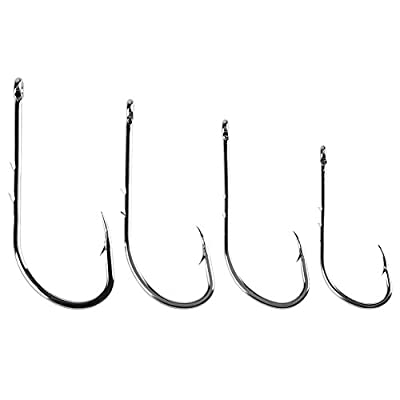 Foru-1 50pcs High Carbon Steel Barbed Fishing Hooks Sea Fishing Bait Holders from Foru-1