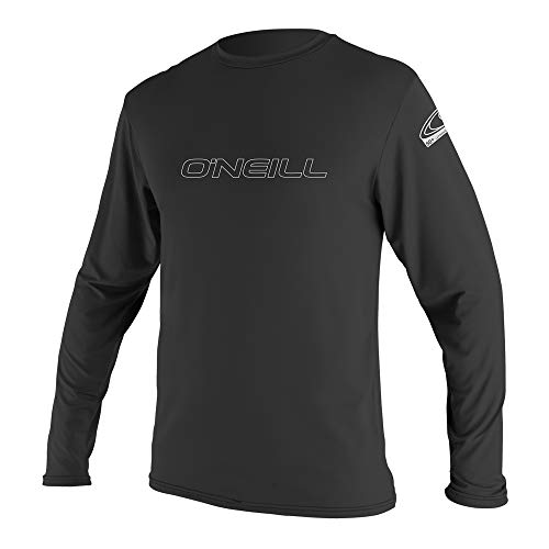 O'Neill Men's Basic Skins UPF 50+ Long Sleeve Sun Shirt, Black, L